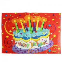 Husa scaun party, mesaj Happy birthday, 38x48 cm