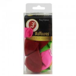 Set baloane colorate cifra 3, material latex, 12 bucati