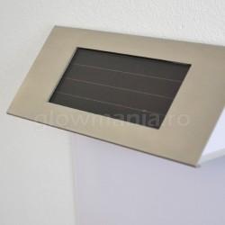 Numar de poarta cu lampa solara LED panou solar