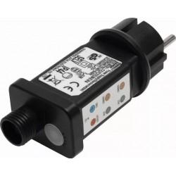 Adaptor de retea pentru ghirlande, telecomanda inclusa, 8 programe de lumina cu memorie