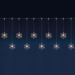 Ghirlanda Fulgi de zapada LED, material acril, lungime 0.9 m, IP44