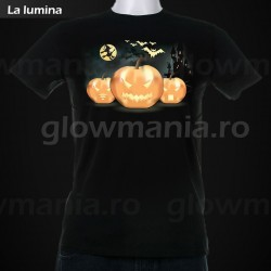 Tricou fosforescent Halloween Party unisex