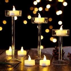 Lumanare LED cu efect flacara, tip pastila 2x3.5 cm, alb cald