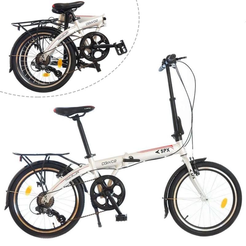 Bicicleta pliabila 20 inch, 7 viteze, schimbator Shimano, cadru aluminiu, portbagaj, Phoenix