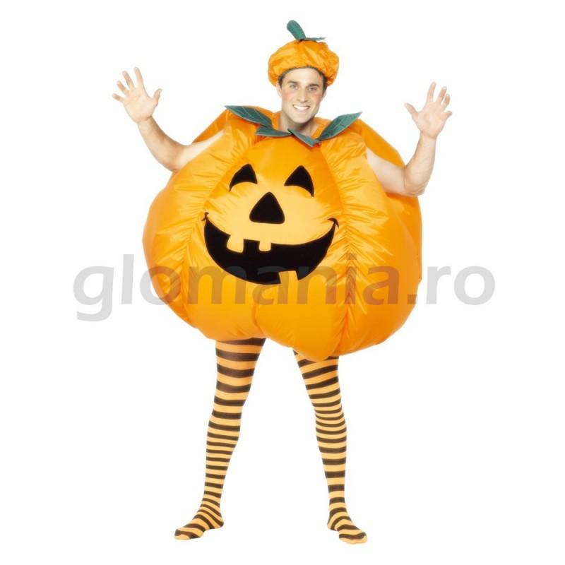 Costum dovleac Halloween pentru adulti