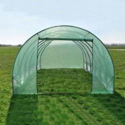 Sera tip tunel 8x3x2 m, cadru metalic, folie PE cu filtru UV4, 10 ferestre