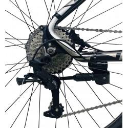Bicicleta Mountain Bike 27.5 inch, 27 viteze, schimbator LTWOO, cadru aluminiu, frane hidraulice, rosu, Genio