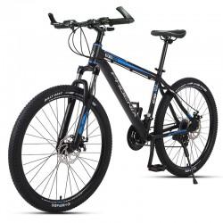 Bicicleta MTB de 26 inch, 21 viteze Shimano, jante aluminiu, frane disc hidraulice, Phoenix, negru-albastru