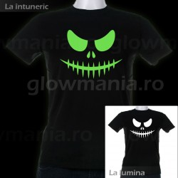 Tricou fosforescent Scary Face