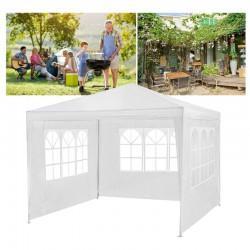 Cort pentru gradina 3x3 m, 3 pereti cu ferestre laterale, cadru de otel, impermeabil, 85g/mp