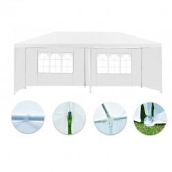 Cort gradina 3x6 m, cadru din otel, impermeabil, ferestre, inchidere fermoar