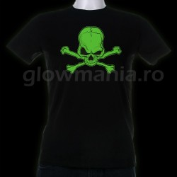 Tricou fosforescent Schelet