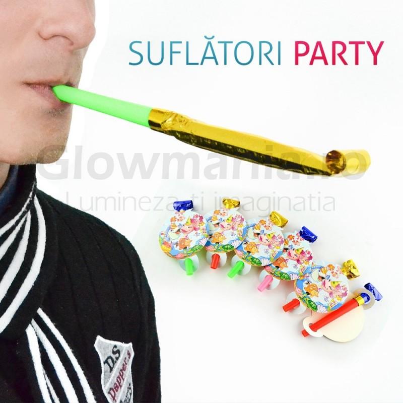 Set 6 suflatori spirala pentru petrecere