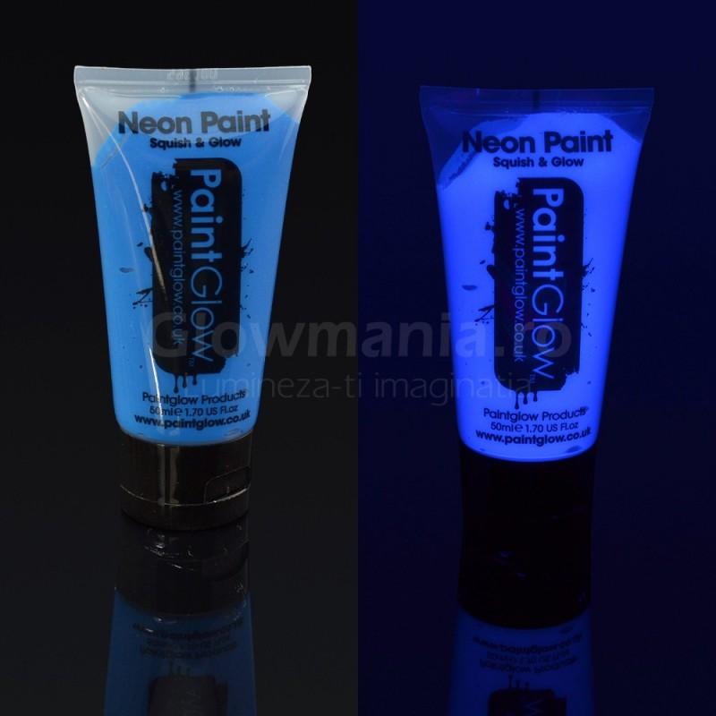 Vopsea Neon reactiva UV pentru bodypainting flacon 50 ml