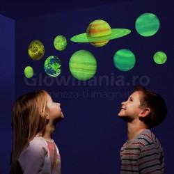 Sistem solar fosforescent autoadeziv pentru camera copilului