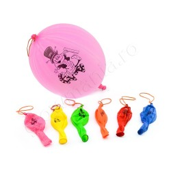 Set 5 baloane Neon mari Punch Balloon reactive UV cu LED