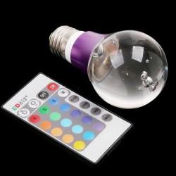 Bec decoarativ clasic LED 16 culori cu telecomanda