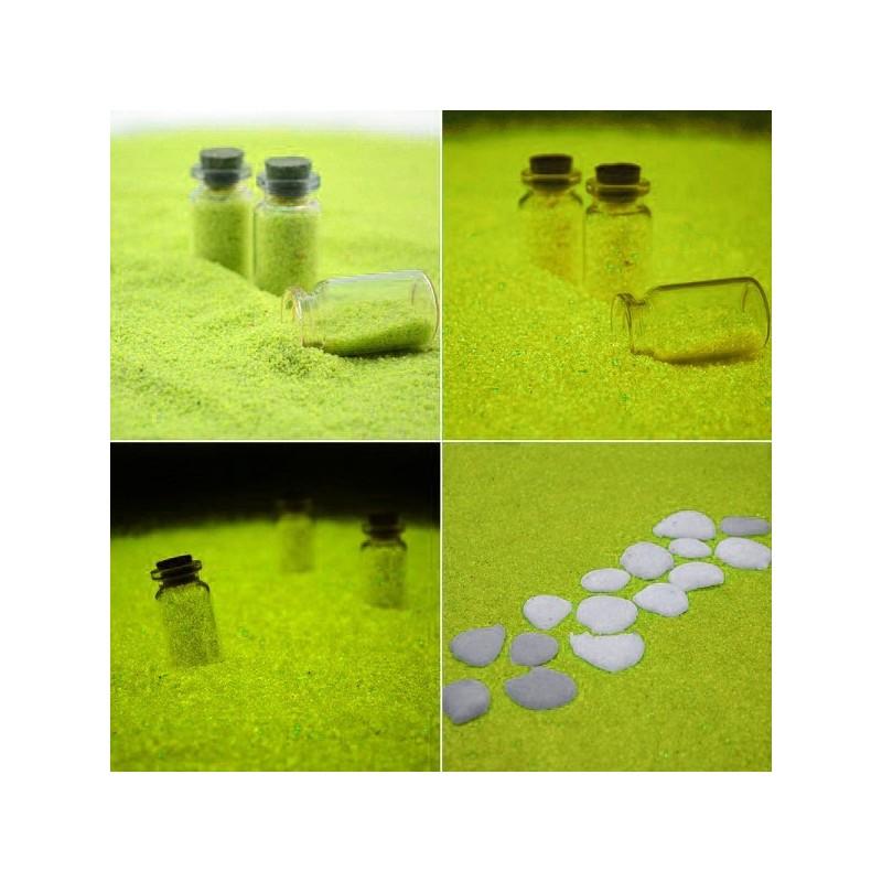 Nisip decorativ galben fosforescent