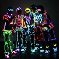 Fir neon electroluminescent EL wire 2,3 mm pentru imbracaminte