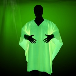 Material textil verde glow luminescent, 1.5 mp, lavabil, 190g/mp