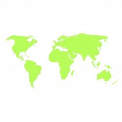 Stickere fosforescente Harta Lumii