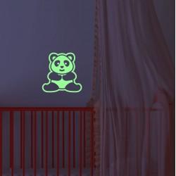 Sticker fosforescent decorativ model Panda