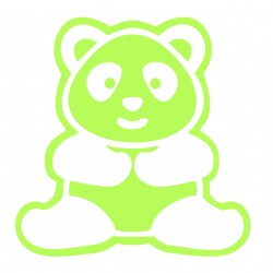 Sticker fosforescent decorativ Panda