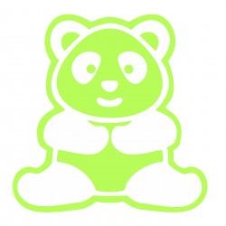 Sticker fosforescent decorativ Panda