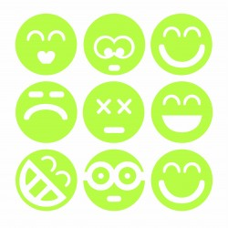Set Stickere luminiscente Smiley Faces