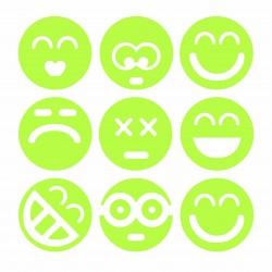 Set Stickere luminiscente Smiley Faces