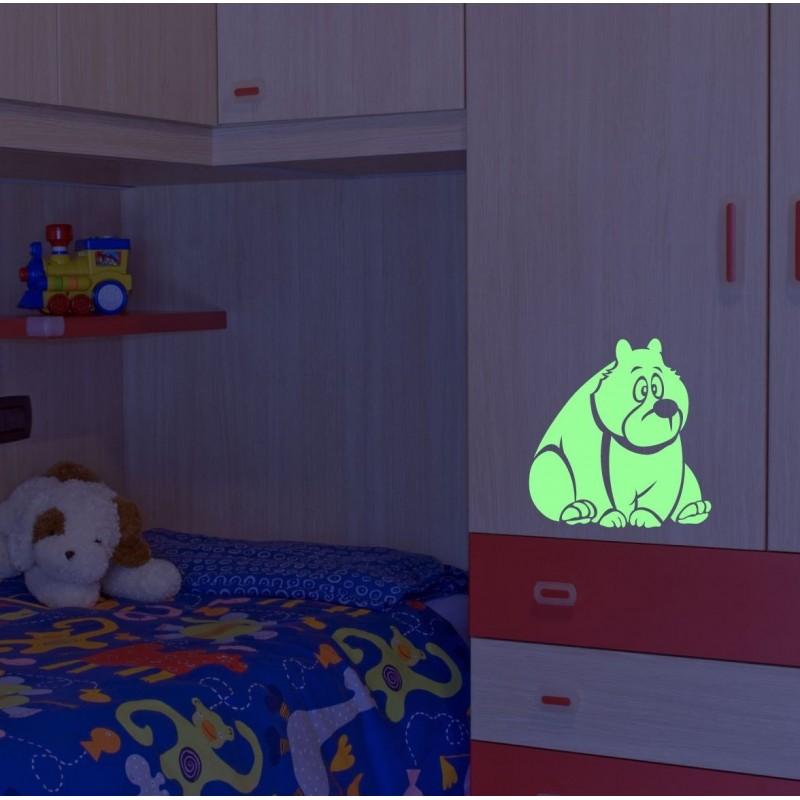 Sticker glow Funny Bear