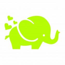 Elefant cu inimioare sticker fosforescent, autoadeziv