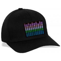 Sapca luminoasa cu Egalizator LED multicolor
