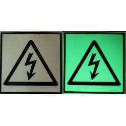 Semn de avertizare Pericol Electrocutare fosforescent