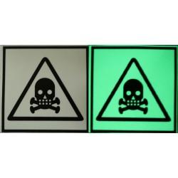 Semn de avertizare Substante Toxice fosforescent