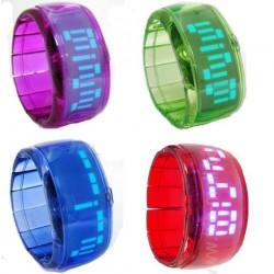 Ceas cu LED tip bratara elastica