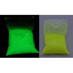 Pigment fosforescent galben care lumineaza galben