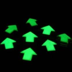 Sageata fosforescenta glow autoadeziva, 8x8 cm