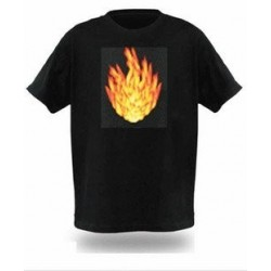 Tricou luminos cu egalizator Foc