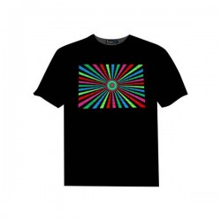 Tricou luminos cu egalizator Abstract