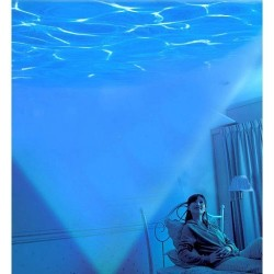 Lampa de veghe cu Proiector de valuri cu difuzor